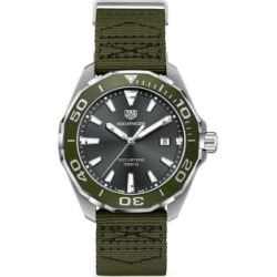 Aquaracer Stainless Steel & Textile Strap Watch