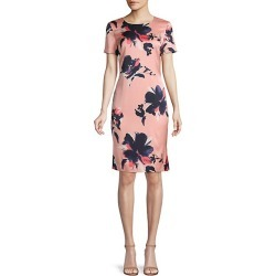 Painted Floral Print Shift Dress
