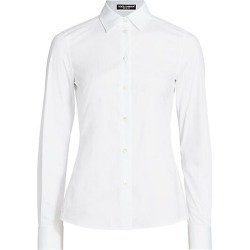 Dolce & Gabbana Women's Point Collar Poplin Shirt - White - Size 48 (12) found on Bargain Bro India from Saks Fifth Avenue for $495.00