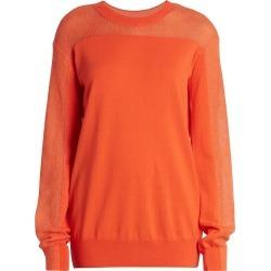 Maison Margiela Women's Spliced Knit Sweater - Tangerine Orange - Size XS found on MODAPINS from Saks Fifth Avenue for USD $615.00