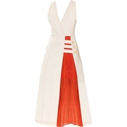 Alexis Women's Ilan Mixed-Media Midi Dress - Ivory - Size Small found on MODAPINS from Saks Fifth Avenue for USD $693.00