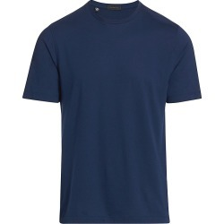 Saks Fifth Avenue Men's COLLECTION Solid Crewneck T-Shirt - Navy - Size Large found on Bargain Bro India from Saks Fifth Avenue for $88.00