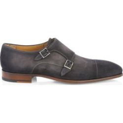 COLLECTION BY MAGNANNI Suede Double Monk Strap Dress Shoes