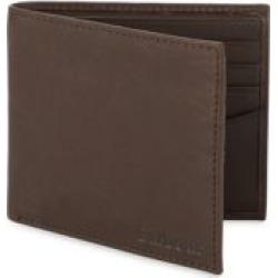 Waxed Cotton & Leather Trim Bi Fold Wallet