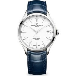 Clifton Baumatic Stainless Steel Rhodium-Plated Alligator Strap Watch found on Bargain Bro India from Saks Fifth Avenue Canada for $2495.37