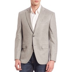 Saks Fifth Avenue Men's COLLECTION Two-Button Cashmere Blazer - Grey - Size 44 found on Bargain Bro from Saks Fifth Avenue for USD $986.48