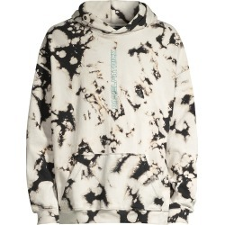 Daniel Patrick Men's Vertical Logo Acid Wash Hoodie - White Acid - Size Small found on MODAPINS from Saks Fifth Avenue for USD $96.00