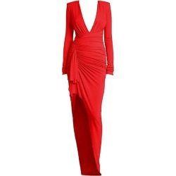 Alexandre Vauthier Women's Gathered Jersey Bodycon Gown - Scarlet - Size 34 (2) found on MODAPINS from Saks Fifth Avenue for USD $1008.00
