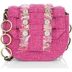 Kooreloo Women's Pixel Tweed Saddle Bag - Fuchsia found on MODAPINS from Saks Fifth Avenue for USD $495.00