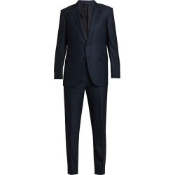 Ermenegildo Zegna Men's Plaid Wool Suit - Navy - Size 60 (50) R found on MODAPINS from Saks Fifth Avenue for USD $3950.00