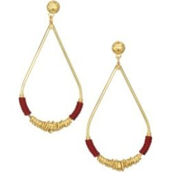 Gold-Plated Thread-Wrapped Earrings found on Bargain Bro India from Saks Fifth Avenue AU for $148.28