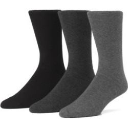 Mens Combed Cotton Flat Knit Crew Socks 3-Pack found on MODAPINS from The Bay for USD $22.00
