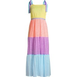 Pitusa Women's Rainbow Bow Tie Strap Dress - Pastels - Size XS found on MODAPINS from Saks Fifth Avenue for USD $188.00