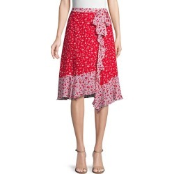 Collins Floral Ruffle Asymmetric Skirt found on Bargain Bro India from Saks Fifth Avenue OFF 5TH for $89.99