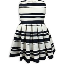 Helena and Harry Baby's, Little Girl's & Girl's Horizon Stripe Fit-&-Flare Dress - Navy Ivory - Size 5 found on Bargain Bro India from Saks Fifth Avenue for $104.99