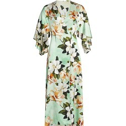 Adriana Iglesias Women's Perla Reversible Stretch-Silk Robe Dress - Mint Leopard Orchid Sandle - Size 36 (4) found on MODAPINS from Saks Fifth Avenue for USD $1364.00
