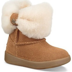 UGG Baby Girl's Ramona Faux-Shearling & Suede Boot - Chestnut - Size 12 (Child) found on Bargain Bro India from Saks Fifth Avenue for $70.00
