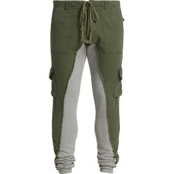 Greg Lauren Men's Baker Long Slim-Fit Joggers - Army - Size 4 (XL) found on MODAPINS from Saks Fifth Avenue for USD $975.00