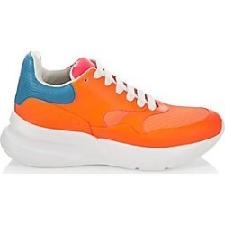 Alexander McQueen Men's Neon Leather Platform Trainers - Orange Pink White - Size 39 (6) found on MODAPINS from Saks Fifth Avenue for USD $890.00