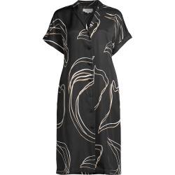 Lafayette 148 New York Women's Sawyer Print Shift Shirtdress - Black Multi - Size Medium found on Bargain Bro from Saks Fifth Avenue for USD $606.48