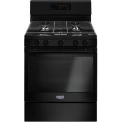MGR6600FB - Cuisinière au gaz noire de 76 cm et 5,0 pi³ avec cinquième brûleur ovale