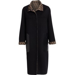 Fendi Women's Reversible Logo Duster Coat - Black - Size 42 (6) found on MODAPINS from Saks Fifth Avenue for USD $4400.00