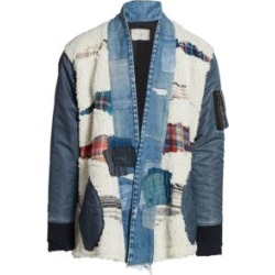 Plaid, Denim & Faux Shearling Open Front Jacket found on Bargain Bro India from Saks Fifth Avenue Canada for $1527.83