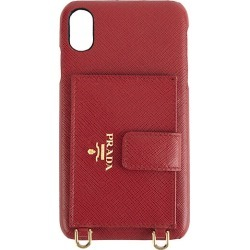 Prada Women's iPhone XS Max Leather Phone Case - Red found on Bargain Bro Philippines from Saks Fifth Avenue for $550.00