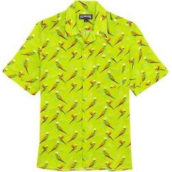 Short-Sleeve Neon Parrots Shirt
