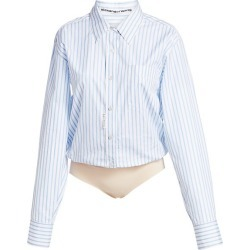 Alexander Wang Women's Stripe Button-Down Bodysuit - Blue White - Size XS found on MODAPINS from Saks Fifth Avenue for USD $198.00