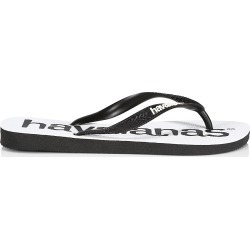 Havaianas Men's Logo Mania Flip Flops - Black White - Size 8 found on MODAPINS from Saks Fifth Avenue for USD $24.00