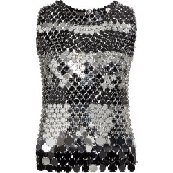Paco Rabanne Women's Sleeveless Metallic Paillette Top - Black Silver - Size 4 found on MODAPINS from Saks Fifth Avenue for USD $1260.00