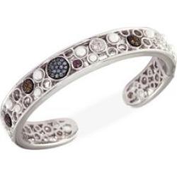 Bracelet-manchette en argent sterling à perles d'eau douce de 2,5 à 4 mm et pierres multiples