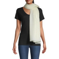 Janavi Women's Sparkle Cashmere Scarf - Ivory found on MODAPINS from Saks Fifth Avenue for USD $625.00