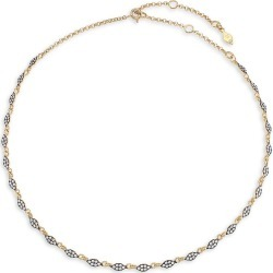 Adriana Orsini Women's Edgy 18K Goldplated & Black Ruthenium-Plated Sterling Silver & Cubic Zirconia Teardrop-Link Collar Necklace - Gold found on Bargain Bro from Saks Fifth Avenue for USD $148.20