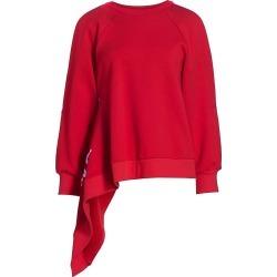 Monse Women's Cutout Cotton Sweatshirt - Scarlet - Size Medium found on MODAPINS from Saks Fifth Avenue for USD $590.00