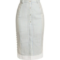 Ganrance Pinstripe Button Skirt found on Bargain Bro from Saks Fifth Avenue Canada for USD $717.26