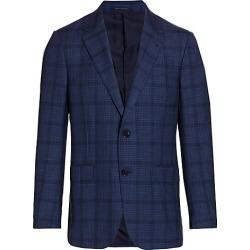 Ermenegildo Zegna Men's Lightweight Plaid Italian Wool-Blend Sportscoat - Blue - Size 48 (38) S found on MODAPINS from Saks Fifth Avenue for USD $2695.00