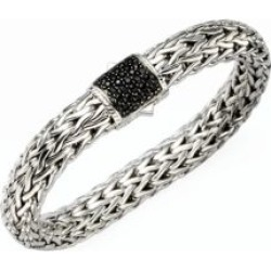 Classic Chain Black Sapphire & Sterling Silver Large Bracelet found on Bargain Bro UK from Saks Fifth Avenue UK