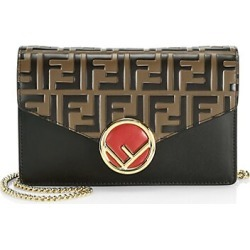 Fendi Women's Monogram Leather Wallet-On-Chain found on MODAPINS from Saks Fifth Avenue for USD $1290.00