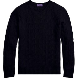 Ralph Lauren Purple Label Men's Cableknit Cashmere Sweater - Classic Navy - Size Small found on Bargain Bro India from Saks Fifth Avenue for $995.00