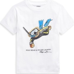 Ralph Lauren Little Boy's and Boy's Print Cotton T-Shirt - White - Size 3 found on Bargain Bro India from Saks Fifth Avenue for $29.50