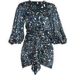 Alexandre Vauthier Women's Leo Stretch Satin Ruched Puff-Sleeve Cocktail Dress - Cobalt - Size 38 (6) found on MODAPINS from Saks Fifth Avenue for USD $1354.00