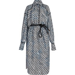 Fendi Women's Sky Lines Silk Shirtdress - Piano - Size 36 (0) found on Bargain Bro India from Saks Fifth Avenue for $3290.00