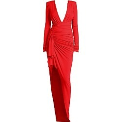 Alexandre Vauthier Women's Gathered Jersey Bodycon Gown - Scarlet - Size 36 (4) found on MODAPINS from Saks Fifth Avenue for USD $2240.00
