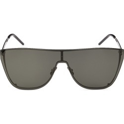 Saint Laurent Women's New Wave 99MM Mask Sunglasses - Silver found on Bargain Bro from Saks Fifth Avenue for USD $361.00