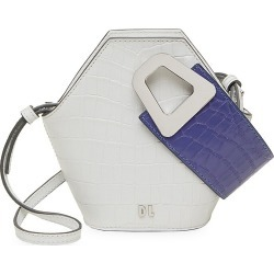 Danse Lente Women's XS Johnny Geometric Croc-Embossed Leather Bucket Bag - Ice found on MODAPINS from Saks Fifth Avenue for USD $182.49