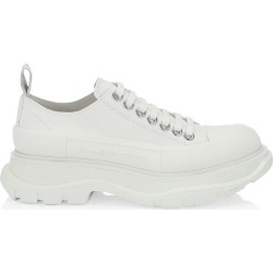 Alexander McQueen Women's Tread Slick Lace-Up Sneakers - White - Size 11 found on Bargain Bro Philippines from Saks Fifth Avenue for $650.00
