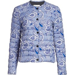 Etro Women's Bandana-Print Puffer Jacket - Navy - Size 44 (8) found on Bargain Bro India from Saks Fifth Avenue for $1280.00