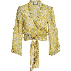 Alexis Women's Odilo Flora Wrap Top - Citron Floral - Size Large found on MODAPINS from Saks Fifth Avenue for USD $138.00